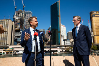 NSW Transport Minister Andrew Constance and Treasurer Dominic Perrottet.