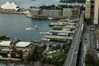 The project includes plans to renew Circular Quay's train station beneath the Cahill Expressway.