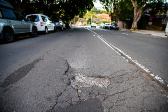 """Potholes are one of the major causes of tyre and wheel damage and """"this matter becomes demonstrably worse after heavy rain"""", an NRMA spokesman said."""