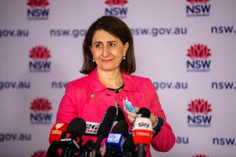 Premier Gladys Berejiklian didn't bring other women up behind her.