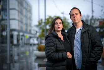 Opera singer Sam Sakker and wife Rachel. Sam cannot access government support despite losing his livelihood.