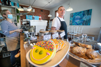 Trevor Robinson is planning to reopen his Barwon Heads cafe for indoor service when restrictions ease on Friday.