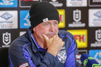 Dogs officials will have a clearer idea in a month whether to ''sack or back'' coach Dean Pay.