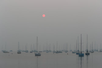 Melbourne was blanketed by smoke on Tuesday morning, as shown here with this picture taken in Williamstown.