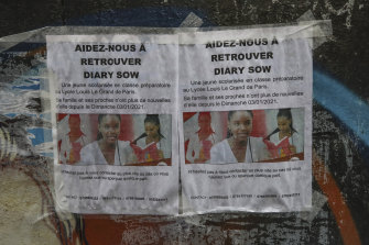 "Paris prosecutor's office said Tuesday that it had opened a ""worrying disappearance"" inquiry into the disappearance of Diary Sow, 20, who reportedly vanished on January 3."