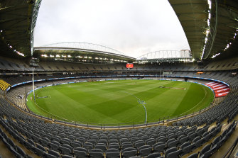 The AFL owns Melbourne's Marvel Stadium but it will not be bringing in any revenue for the foreseeable future.