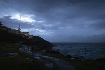 It was a gloomy Sunday along the Bondi to Bronte walk.