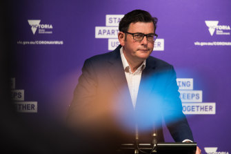 'We will get this job done': Premier Daniel Andrews on Monday.