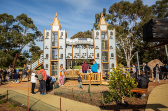 There's a castle, too: the centrepiece of Thomas Street Playground in Hampton is a three-level castle.