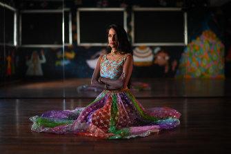 Jaya Bhattacharya, who runs an Indian dance studio in Richmond.