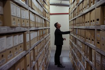 Martyn Killion, the director for collections, access and engagement at the NSW State Archives in Kingswood.