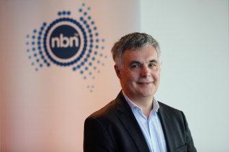 CEO Stephen Rue was among the NBN Co's top executives to share in $78 million in bonuses last year.