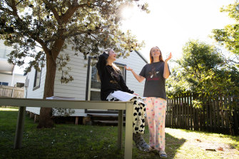 HSC students Lucy Karis and Grace Phelan say their regular afternoon study club has kept them motivated.