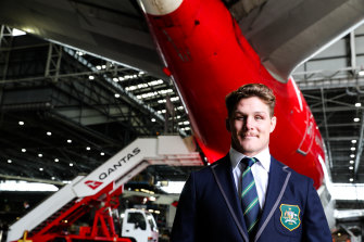 Captain Michael Hooper was phoned by Rob Horne on Tuesday evening.