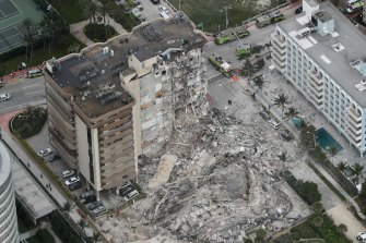An aerial view of the damage.