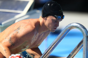 Simpson at last month's national championships on the Gold Coast.