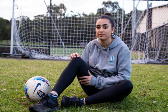 Christina Stefanou, 19, was touted as a rising star in soccer but had to give up playing because of a brain injury. She now plays touch football as a social game to keep fit.