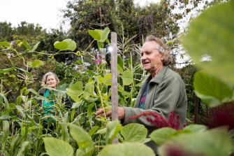 Juliet Cobb and Stephen Gillespie in Glover's Community Garden in Lilyfield, Sydney.