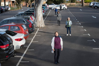 Meg Boyle, chair of the Camberwell Green group of residents, at the car park.