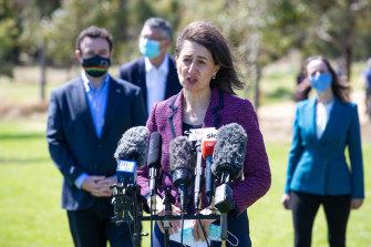 NSW Premier Gladys Berejiklian on Moday.