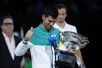Novak Djokovic has taken time off with his family since winning the Australian Open.