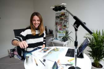 Josie Tutty, 26, has drawn a TikTok following for her art project.