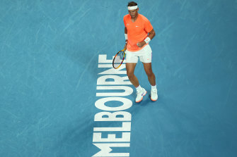 Rafael Nadal is through to the third round after a straight-sets win over Michael Mmoh.