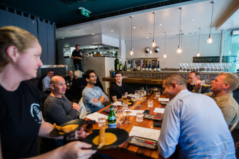 Diners return to Fix Wine Bar and Restaurant in Sydney's CBD.