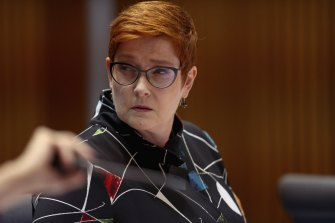 Foreign Minister Marise Payne defended the temporary ban on Australians returning from India.