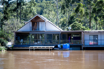 Wisemans Ferry on the Hawkesbury River on Wednesday.
