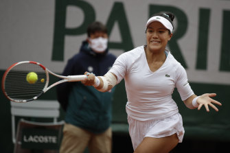 Kristie Ahn said playing Williams at her best was like facing a runaway train.