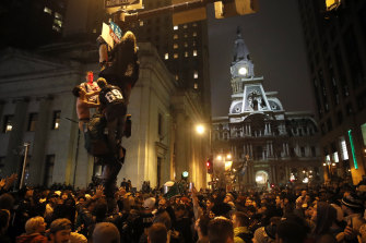 Eagles fans took to the streets in Philadelphia after winning the Super Bowl three years ago.
