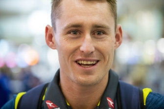 Marnus Labuschagne, pictured in January, is considered the apprentice to Steve Smith's master.