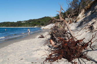 Byron's Clarkes Beach has lost much of its sand - but scientists say it will eventually return but they can't say when.