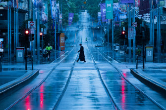Two weeks ago the Bourke Street mall was deserted.