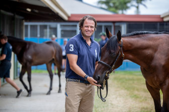 Tom Magnier with Fastnet Rock.