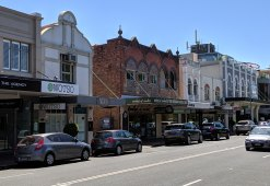 The strip of Military Road in Mosman that Woolworths wants to convert into a new supermarket.