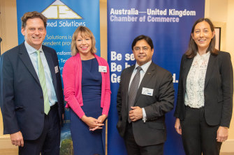 Seth Finegan, Informed Solutions, Dr Alice Bunn, UK Space Agency, Karl Rodrigues, Australia Space Agency and Catherine Woo, Australia-United Kingdom Chamber of Commerce.