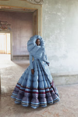A look from Pierpauolo Piccioli's Genius Project collection for Moncler.