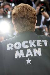 Elton John at the premiere of the film Rocketman.