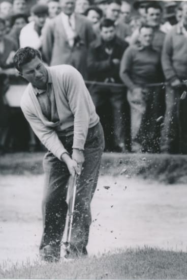 Peter Thomson at the Victorian Open at Kingston Heath, 1958.