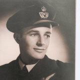 Harold Brabin as a young wireless air gunner.