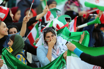 Women in Iran were allowed to attend, in limited numbers, a World Cup qualifier against Cambodia.