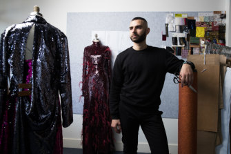 Striking back ... Yousef Akbar at his studio in Sydney.