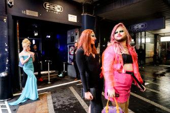 ARQ patrons outside the Sydney nightclub on Flinders Street.