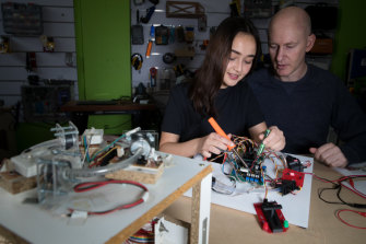 Josephine Collins, 17, and her father Daniel have developed Personal Particle Accelerator kits.