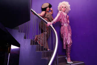 Coco Jumbo and Minnie Cooper perform at ARQ, which is celebrating its 20th anniversary.