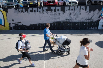 A controversial mural by artist Luke Cornish  on the Bondi Beach seawall has been defaced.