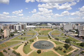 Brasilia's central avenue has one of the world's biggest median strips.