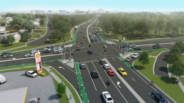 Artist's impression of the Murphy and Ellison roads upgrade.